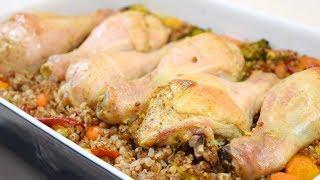 Гречка с курицей и овощами в духовке. Очень вкусное блюдо. Сытный ОБЕД или УЖИН.