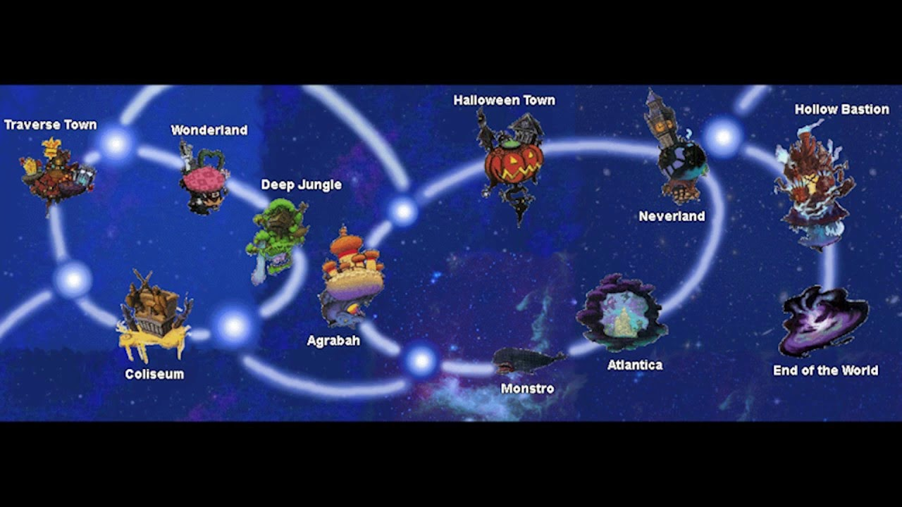Kingdom Hearts 1 World Map Kingdom Hearts 1 World Map Beat (Outdated)   YouTube