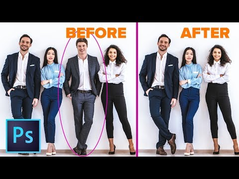How to remove ANYTHING from a photo in Photoshop. 3 WAYS! thumbnail