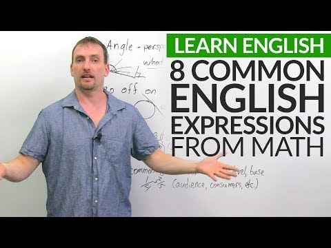 Speaking English: How we use math vocabulary in everyday English