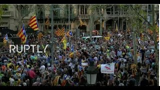 LIVE: Demonstration in Barcelona following Spain's push to remove Catalonia's leaders thumbnail