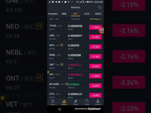 How To Trade On Binance Exchange With Binance Android App: