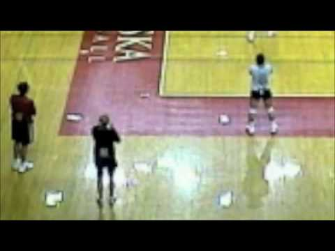 Nebraska Volleyball Practice Gym Film
