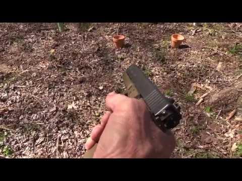 Glock 17 Full Auto Close-up