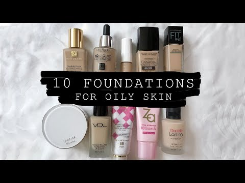 10 Foundations You Need To Try for Oily Skin (Western & Korean)