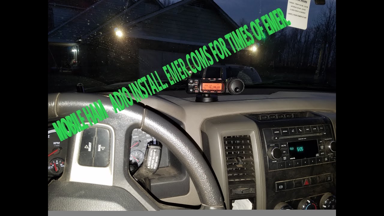 Mobile Ham Radio Install For Emergencies And Fun