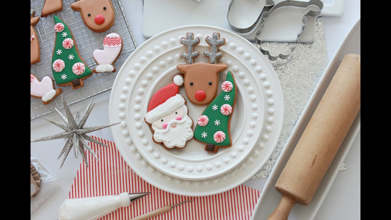 how to decorate simple christmas cookies with royal icing youtube - How To Decorate Christmas Cookies With Royal Icing