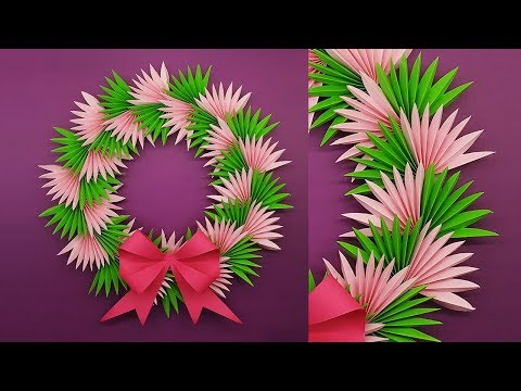 DIY Paper Christmas Wreath | How To Make Christmas Wreath | Christmas Decoration Ideas