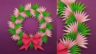 DIY Paper Christmas Wreath   How To Make Christmas Wreath   Christmas Decoration Ideas
