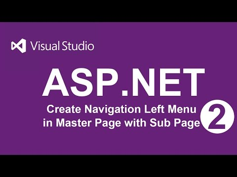 Create Navigation left menu of Master Page in ASP.NET | VB - 02