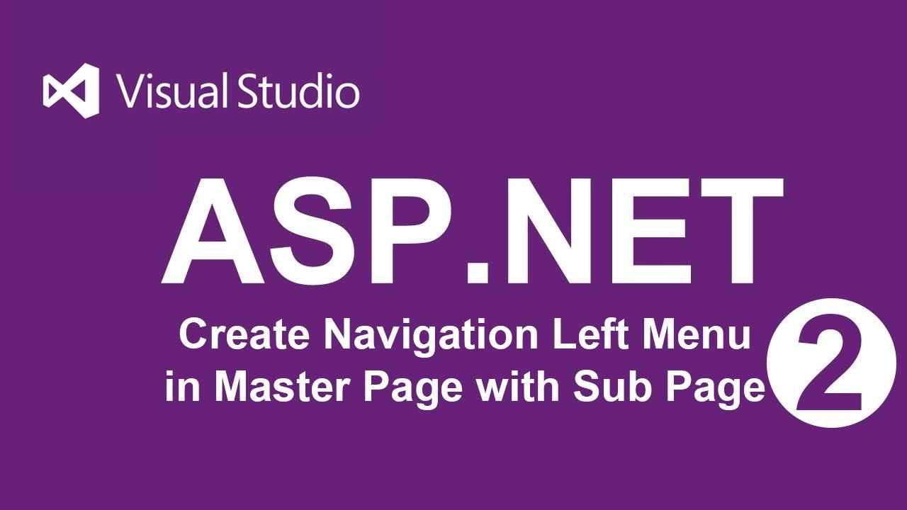 Create Navigation left menu of Master Page in ASP NET | VB - 02