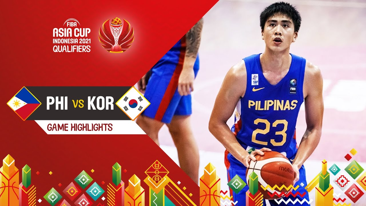 Philippines - Korea | Highlights - FIBA Asia Cup 2021 Qualifiers