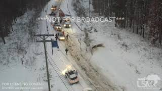 12-9-2018 Morganton, NC Cars stuck, truck hit car, plow hits gopro, plow gets stuck, man does donuts