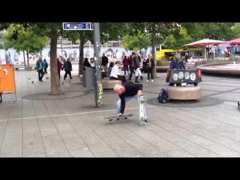 Skating Street Performer in Berlin