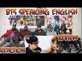 BTS Speaking English Compilation | funniest moments | Reaction/Review