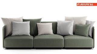 "№151. Sofa modeling "" Flexform eddy "" Autodesk 3ds Max & marvelous designer"