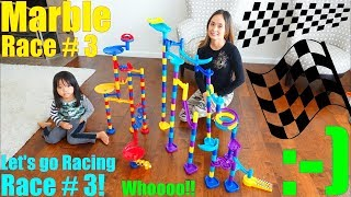 Racing Game! 2 Marble Racing Playsets. Marble Racing Race Number 3! Children's Racing Toys