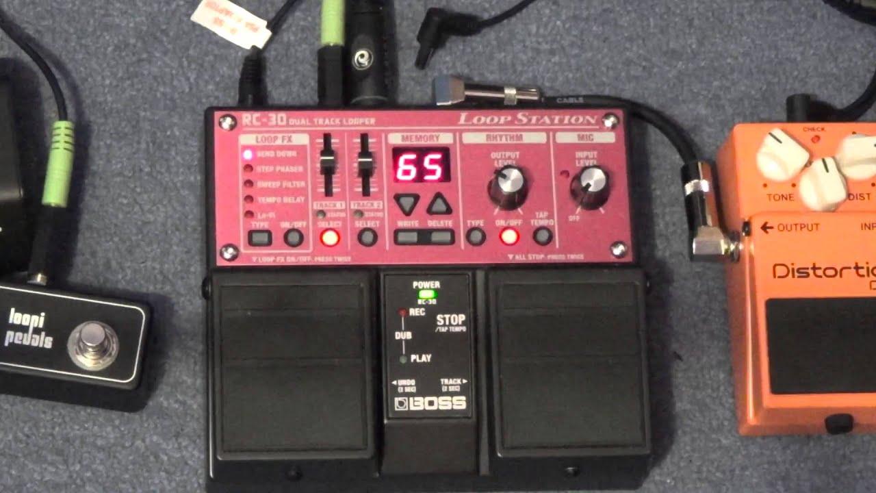 boss rc 30 loop station loop timing guide how to play loops in time