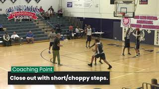 Effective Basketball Closeout Drill for Pre-Practice!