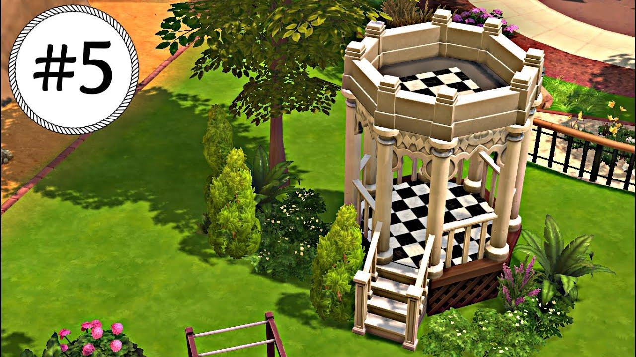 Tutorial los sims 4 como hacer un mirador de jard n for Como hacer un jardin