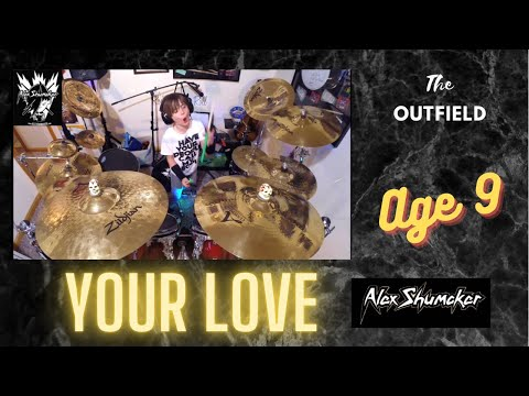 Alex Shumaker drum cover, The Outfield