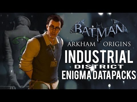 Batman Arkham Origins - Industrial District - All Enigma Datapacks / Extortion Files  Locations