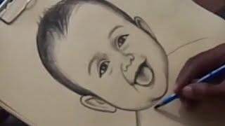 How to Cute Baby Drawing in Telugu