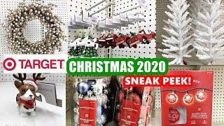 Target Christmas 2020 Sneak Peek Christmas Decor Ornaments Lights Shop With Me Youtube