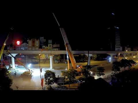 Hanoi metro line 3 construction - span instalation