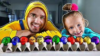 Aprende colores con 6 coloridos huevos de Pascua - Aprende los números