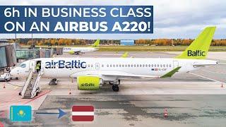 TRIPREPORT | airBaltic (BUSINESS CLASS) | Airbus A220-300 | Almaty - Riga
