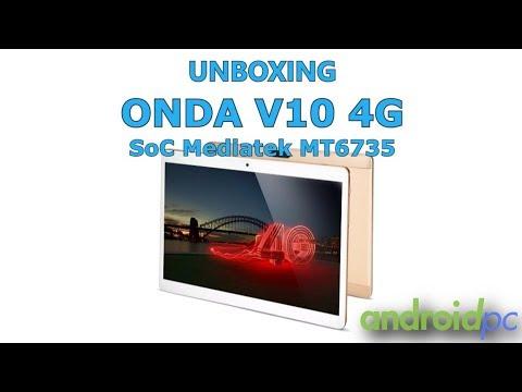 """Unboxing: Tablet Onda V10 4G con pantalla de 10,1"""" y SoC Octa core MT6753"""