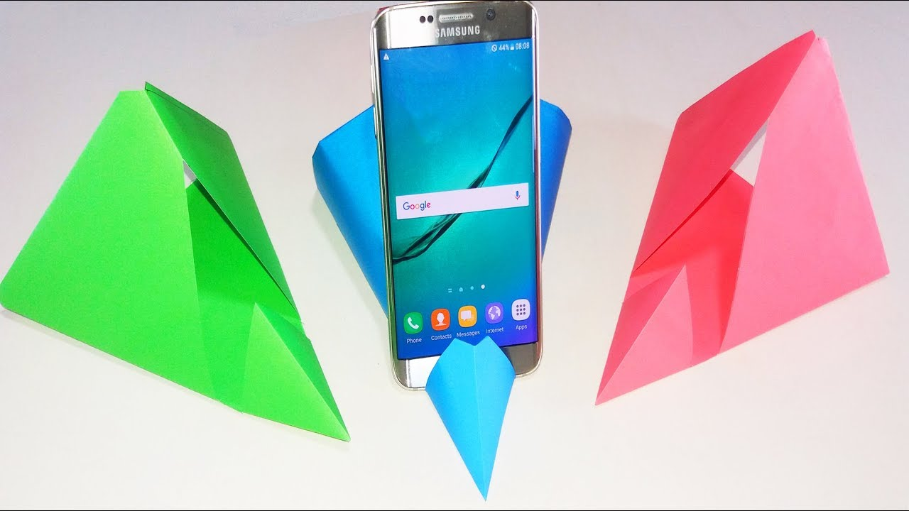 How To Make Origami Smartphone Stand Holder Step By Step Diy