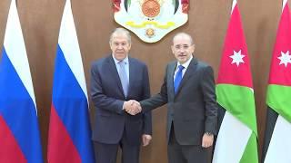 С.Лавров и А.Сафади, Амман, 7 апреля 2019 года