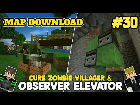 cure-zombie-villager-&-observer-elevator!-map-download-survival-abang-adek-#30