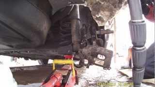 Citroen C4 установка подкатного домкрата