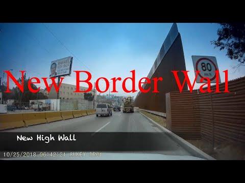 New San Diego Border Wall Being Built Oct 2018 AUKEY Dash Cam Footage