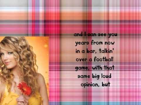 Taylor Swift- Mean (Lyrics + Dl)