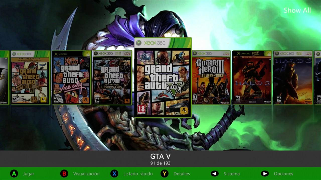 Xbox 360 1tb Rgh Modchip Lista De Juegos 2017 Youtube