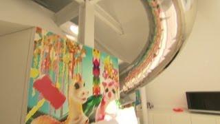Slide through NYC's penthouse playground