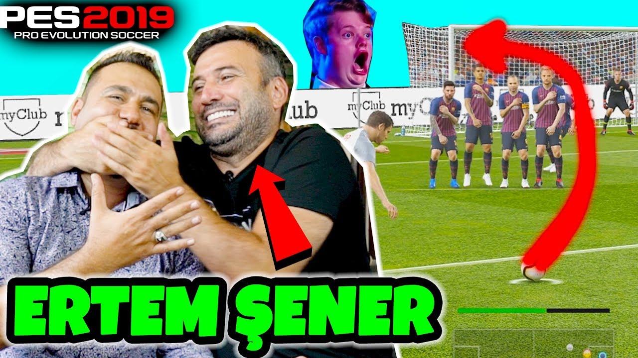 SPİKER ERTEM ŞENER İLE EFSANE PES 2019 MAÇI! Videosu