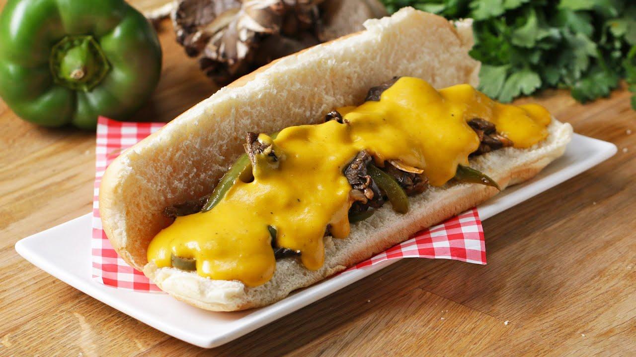 "Vegan Mushroom ""Cheesesteak"" Sandwich"