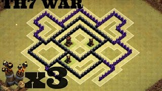 Clash of Clans   New TH7 WAR BASE!   3 AIR DEFENSE   Anti Dragons/Air˝