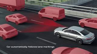 The new Audi A8 AI traffic jam pilot