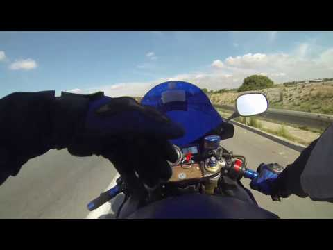 Crazy Suzuki gsxr 600 TUNISIA ( unused original clip no filter tunisian motovlog ) tunisie gsxr