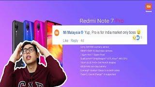 Gambar cover Redmi Note 7 Pro Tak Masuk Malaysia??? 😢