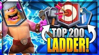 TOP 200 LADDER PUSH w/ INSANE HOG LUMBERJACK DECK!! Clash Royale Arena 12 Hog Rider Deck