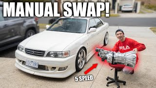 JZX100 CHASER Manual Conversion BEGINS! (R154)(1JZ) Part.1