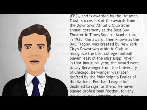 List of Heisman Trophy winners - Wiki Videos