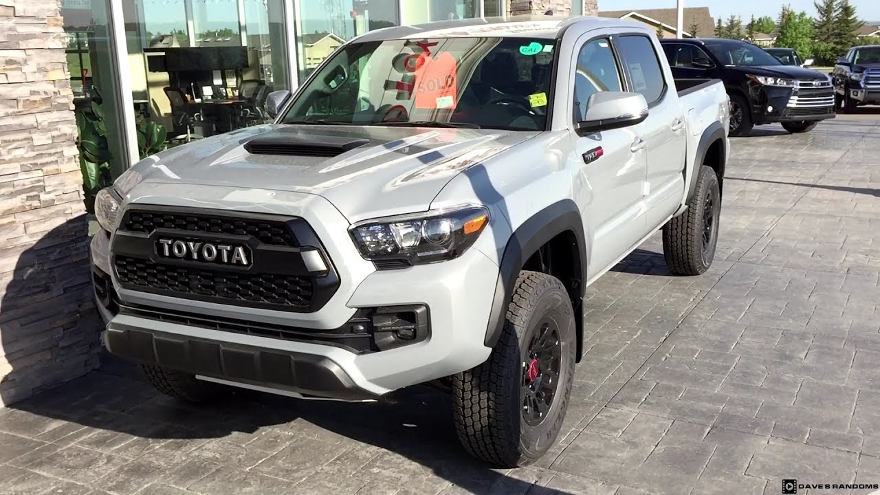 2017 Toyota Tacoma Trd Pro In Cement Grey